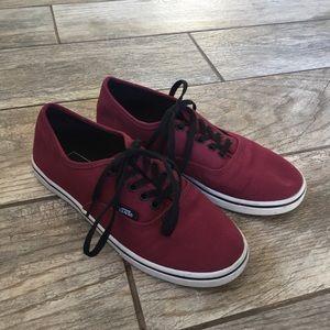 Sale VANS Lo Pro Burgundy Skate Shoes Boy 3.5 5